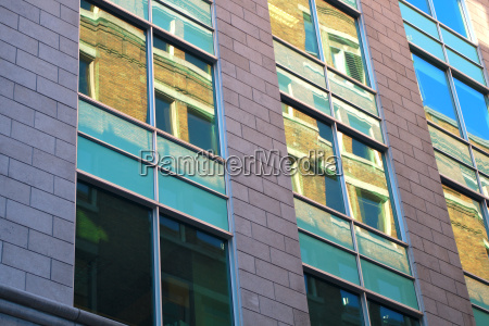 building glass reflections window mirror office