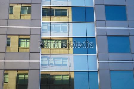 office building mirror glass windows finance
