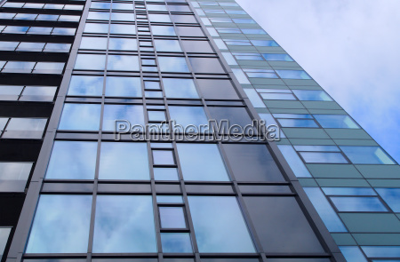 office building perspective view business facade