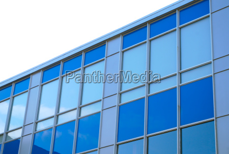 blue building business skyscraper office