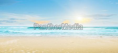 tropikalna pla a letni krajobraz
