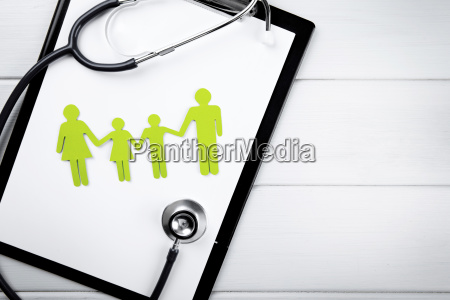 family health and life insurance concept