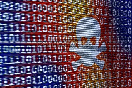 niebieski niebezpieczenstwo zagrozenia komputer kalkulator technika