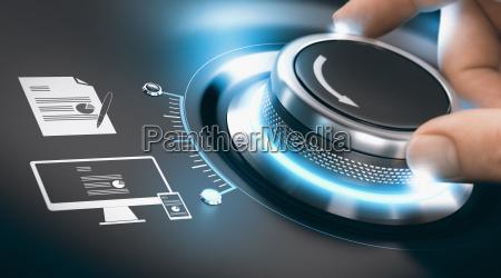 cyfrowy proces transformacji digitalizacja informacji analogowych