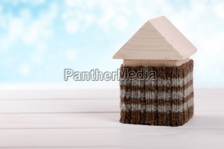 house insulation energy efficient home concept