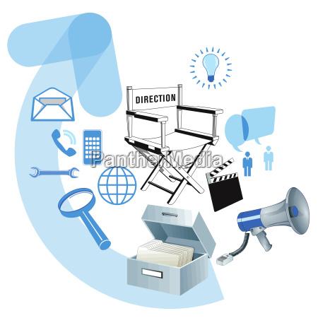 business development informacja ilustracja