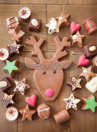 rozne czekoladki na boze narodzenie