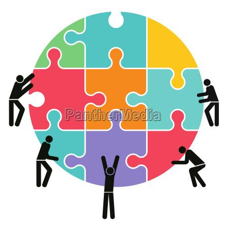 wspolpraca zespol i grailustracja