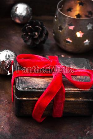retro christmas decorations with christmas