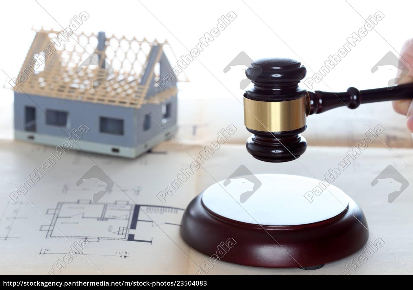versteigerung, symblisch, mit, immobilie - 23504083