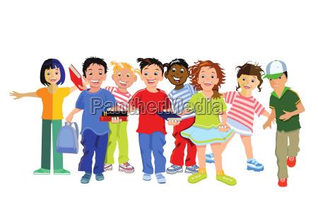 dzieci smieja sie i sa szczesliwe