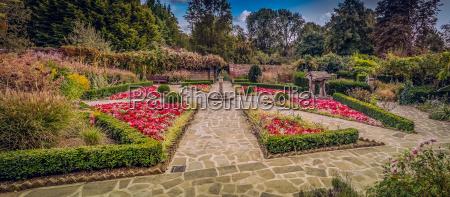 piekny mily park ogrod ogrodek kwiat