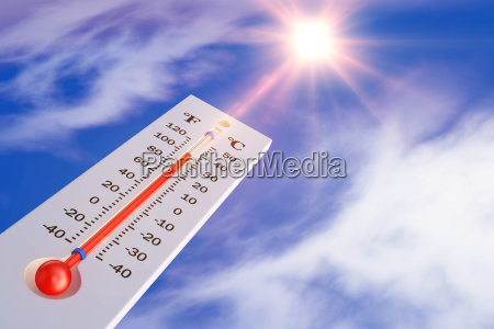 termometr i slonce