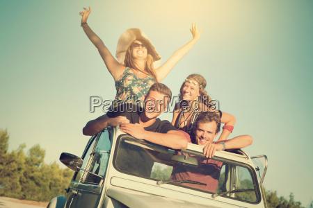 przyjazn lato letni samochod automobil gefaehrt