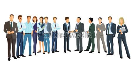 grupowy obrazek z roznorodnymi ludzmi biznesuilustracja