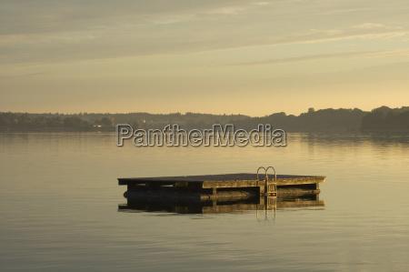 poranne, słońce, nad, jeziorem, chiemsee, w - 23795544