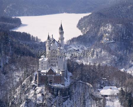 zima zimowy europa bayern bawaria sehenswuerdigkeit