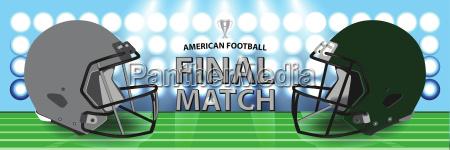 mecz finalowy futbol amerykanski srebrozielone helmy