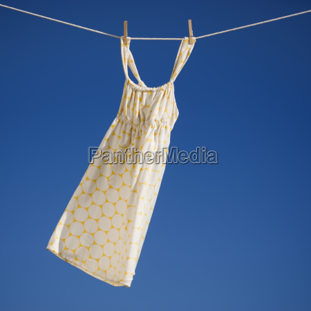 dress on clothes line