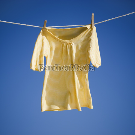blouse on clothes line