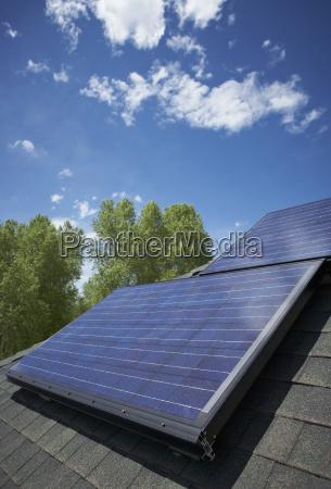 panele sloneczne na dachu