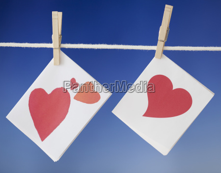 hear cards drying on clothesline