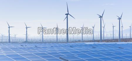 horyzont pustynia usa energia elektrycznosc prad