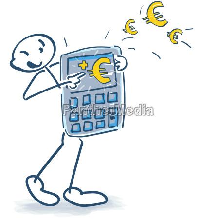 euro sprzedaz kalkulator zakup obliczenie strichmaennchen