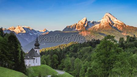 kosciol kaplica gotteshaus pejzaz krajobraz natura