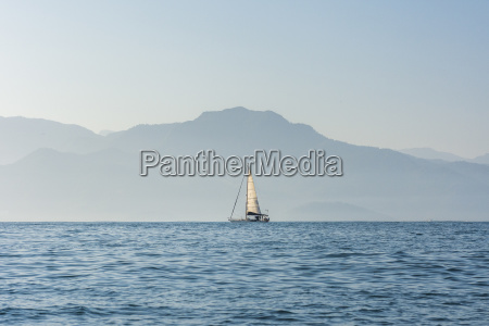 boat sailing on atlantic ocean in