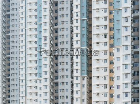 wiezowiec fasady budynku publicznego w hong