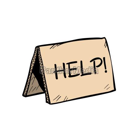 pomoc napis znak dla darowizn