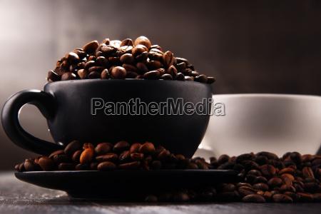 kompozycja, z, dwiema, filiżankami, kawy, i - 24193546