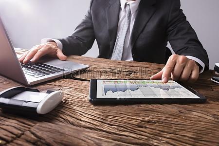 stock market broker analizowanie wykres na