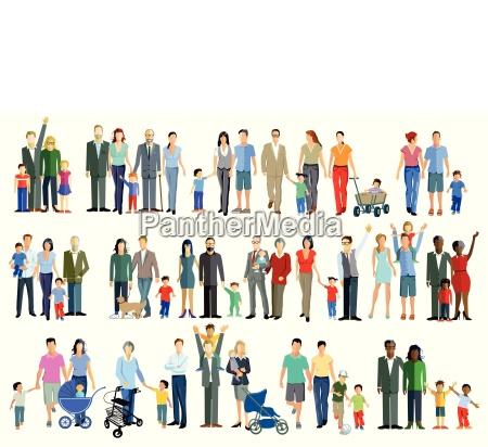 rodzinne grupy pokolenilustracja