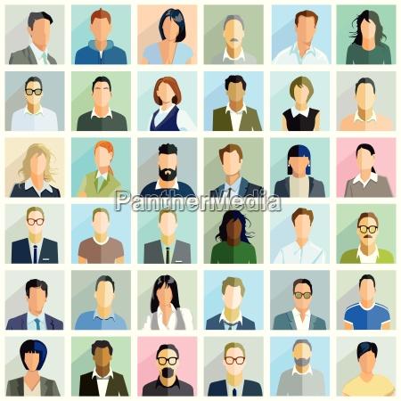 grupowi ludzie portretowilustracja