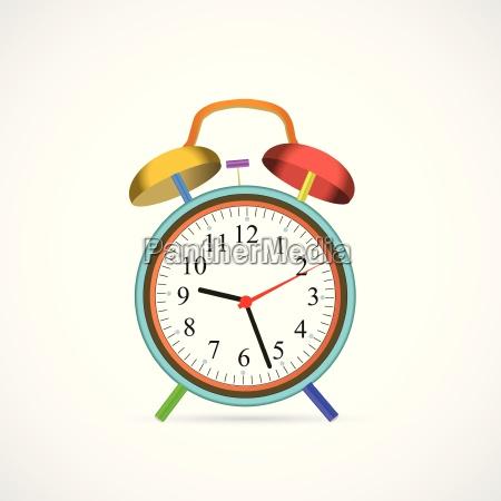 colorful alarm clock illustration