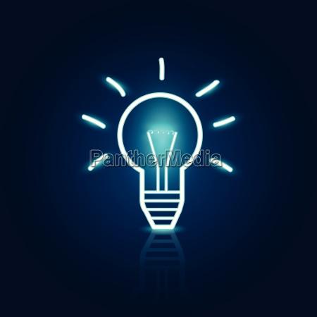 abstract light bulb illustration