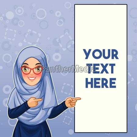 mloda muzulmanska kobieta jest ubranym hijab