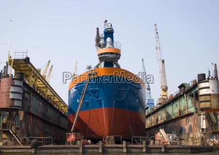 blue engine drive motor navy dockyard