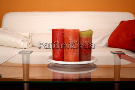 orange inside indoor photo furniture candle