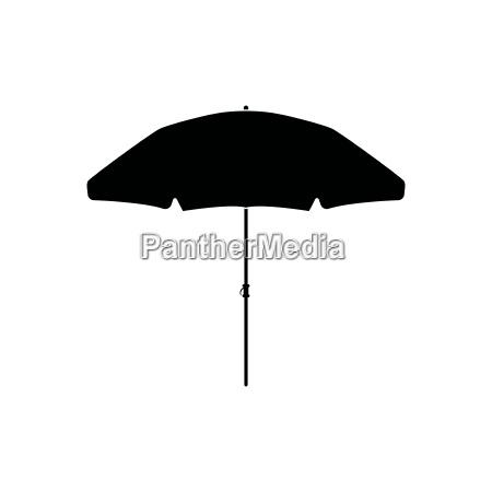 ikona kolor czarny parasol plazy