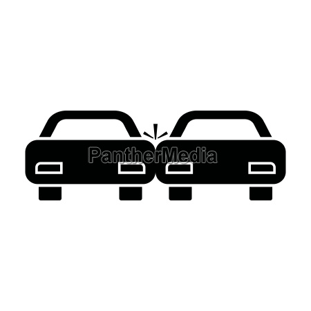 ikona kolor czarny samochod rozbil sie