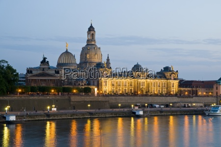 view over the elbe river on