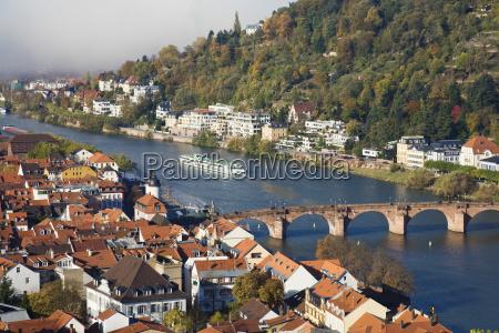 heidelberg old town with old bridge