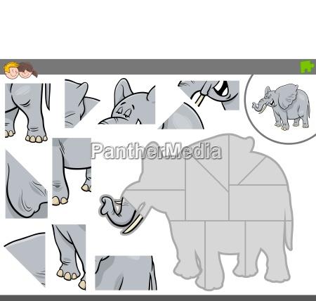 jigsaw puzzle gry z slonia zwierzat
