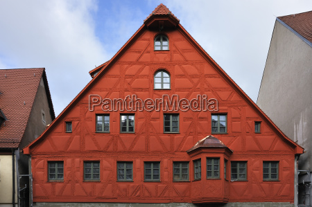 old half timbered facade of the