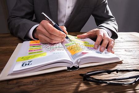 kalendarz pismie przedsiebiorcy w pamietniku