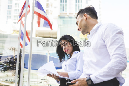 thailand bangkok businessman and businesswoman in