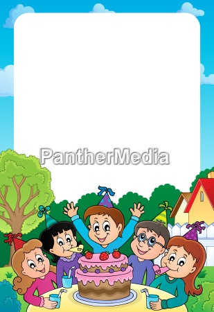 kids party topic frame 2
